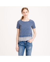 J.Crew - Blue Preorder Cardigan Adele Embroidered Top - Lyst