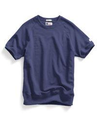 Todd Snyder | Short Sleeve Sweatshirt In Mast Blue for Men | Lyst