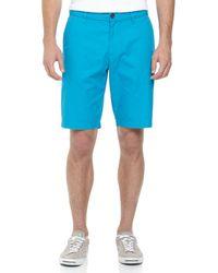 Original Penguin - Relaxed Twill Shorts Vivid Blue 33 for Men - Lyst