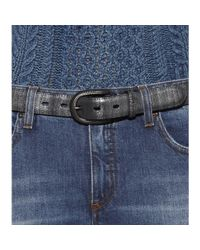 Fausto Colato Black Leather Belt