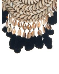 Figue | Black Malo Shell And Pompom Necklace | Lyst