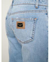 Dolce & Gabbana - Blue Skinny Mid-Rise Stretch-Denim Jeans - Lyst