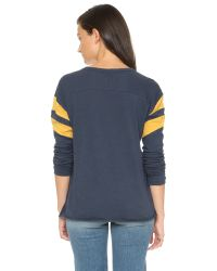 NSF | Blue Regina Long Sleeve Tee | Lyst