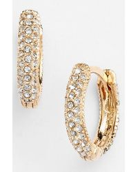 Judith Jack | Metallic Reversible Hoop Earrings - Marcastie/ Crystal/ Gold | Lyst