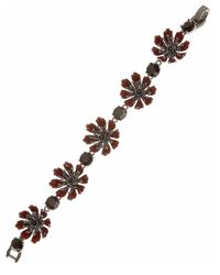 Marchesa | Red Floral Bracelet | Lyst