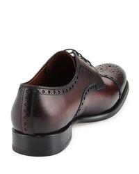 Saks Fifth Avenue - Red Medallion Cap-toe Derby Shoe for Men - Lyst