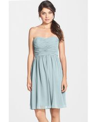 Donna Morgan | Blue Sarah Strapless Dress | Lyst