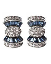 Ben-Amun | Metallic Sapphire Crystal Bow Earrings | Lyst