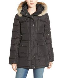 Pajar | Black Serena Fur-Trimmed Down Parka Jacket | Lyst