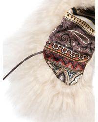 Etro - White Shearling Collar - Lyst