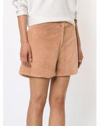 Adam Lippes Pink Mink Shorts