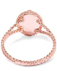Alex Monroe Pink Rose Gold Small Wild Strawberry Flower Ring