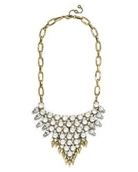 BaubleBar | Metallic 'celestial Spike' Bib Necklace - Antique Gold/ Opal | Lyst