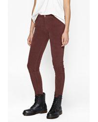 French Connection | Brown Hendrix Velvet Skinny Jeans | Lyst