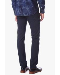 7 For All Mankind Blue Luxe Performance Colored Denim: Slimmy Slim Straight In Night Navy for men