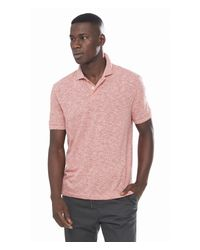 Express | Red Twisted Slub Polo for Men | Lyst