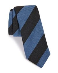 Todd Snyder | Black Stripe Wool & Silk Tie for Men | Lyst