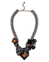 Nocturne - Black 'aline' Collar Necklace - Lyst