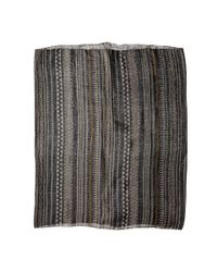 Michael Stars | Gray Stitched On Eternity Scarf | Lyst