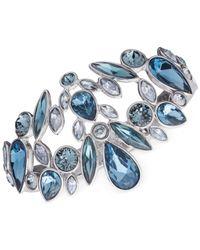 Givenchy | Silver-tone & Blue Stone Bangle Bracelet | Lyst
