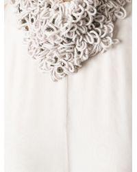 Brunello Cucinelli Gray Embellished Neck Evening Dress