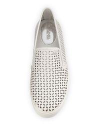 MICHAEL Michael Kors - White Olivia Laser-cut Leather Skate Sneaker - Lyst