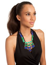 Trina Turk | Metallic Frontal Drama Necklace | Lyst