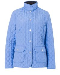 Basler - Blue Quilted Reversible Jacket - Lyst