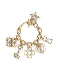 Lanvin | Metallic '125 Charms' Multi Charm Pendant Bracelet | Lyst