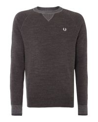 Stussy - Gray Budding Yarm Tipped Crew Neck Sweat for Men - Lyst