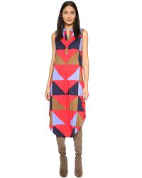 Mara Hoffman | Blue Sleeveless Triad Dress - Triad Red | Lyst