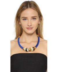 Lizzie Fortunato - Blue Treasure Necklace In Surf - Lyst
