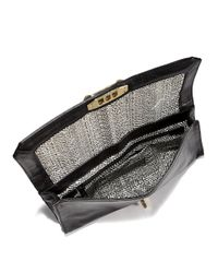 Rebecca Minkoff - Black Love Clutch with Pearlescent Studs - Lyst