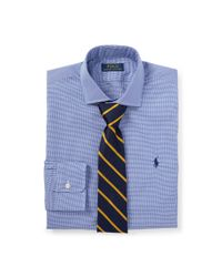 Polo Ralph Lauren Blue Slim Fit Button Down Point Collar Short Sleeve Shirt for men