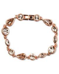 Givenchy | Pink Rose Gold-tone Silk Stone Flex Bracelet | Lyst