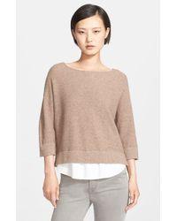 Joie Brown 'symphorienne' Wool & Cashmere Sweater