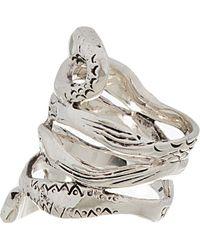 Aurelie Bidermann - Metallic Silver Plated Mamba Ring - Lyst