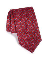 Brioni - Red Print Silk Tie for Men - Lyst