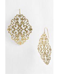 Argento Vivo | Metallic 'Artisanal Lace' Diamond Shape Earrings | Lyst
