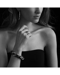 David Yurman | Black & Gold Curb Link Bracelet With Gold | Lyst