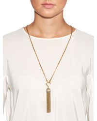 Lulu Frost | Metallic Narcissus Tassel Necklace | Lyst