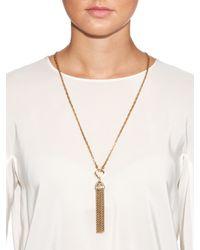 Lulu Frost - Metallic Narcissus Tassel Necklace - Lyst