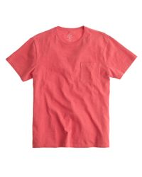 J.Crew Orange Garment-dyed T-shirt for men