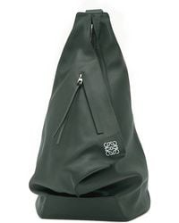 Loewe Green Anton Leather Backpack - For Women