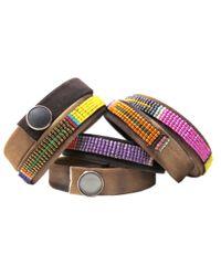 Jill Golden | Multicolor Spring Fling Leather Wrap | Lyst