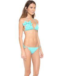 Juicy Couture Blue Triangle Bikini Top