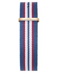 Daniel Wellington | Blue 'classic Belfast' 20mm Nato Watch Strap | Lyst