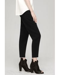 Rag & Bone   Black Leather Detail Legging   Lyst