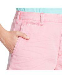 Polo Ralph Lauren - Pink Cotton Chino Short - Lyst