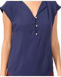 Forever 21 - Blue Contemporary Essential Boxy Buttoned Top - Lyst
